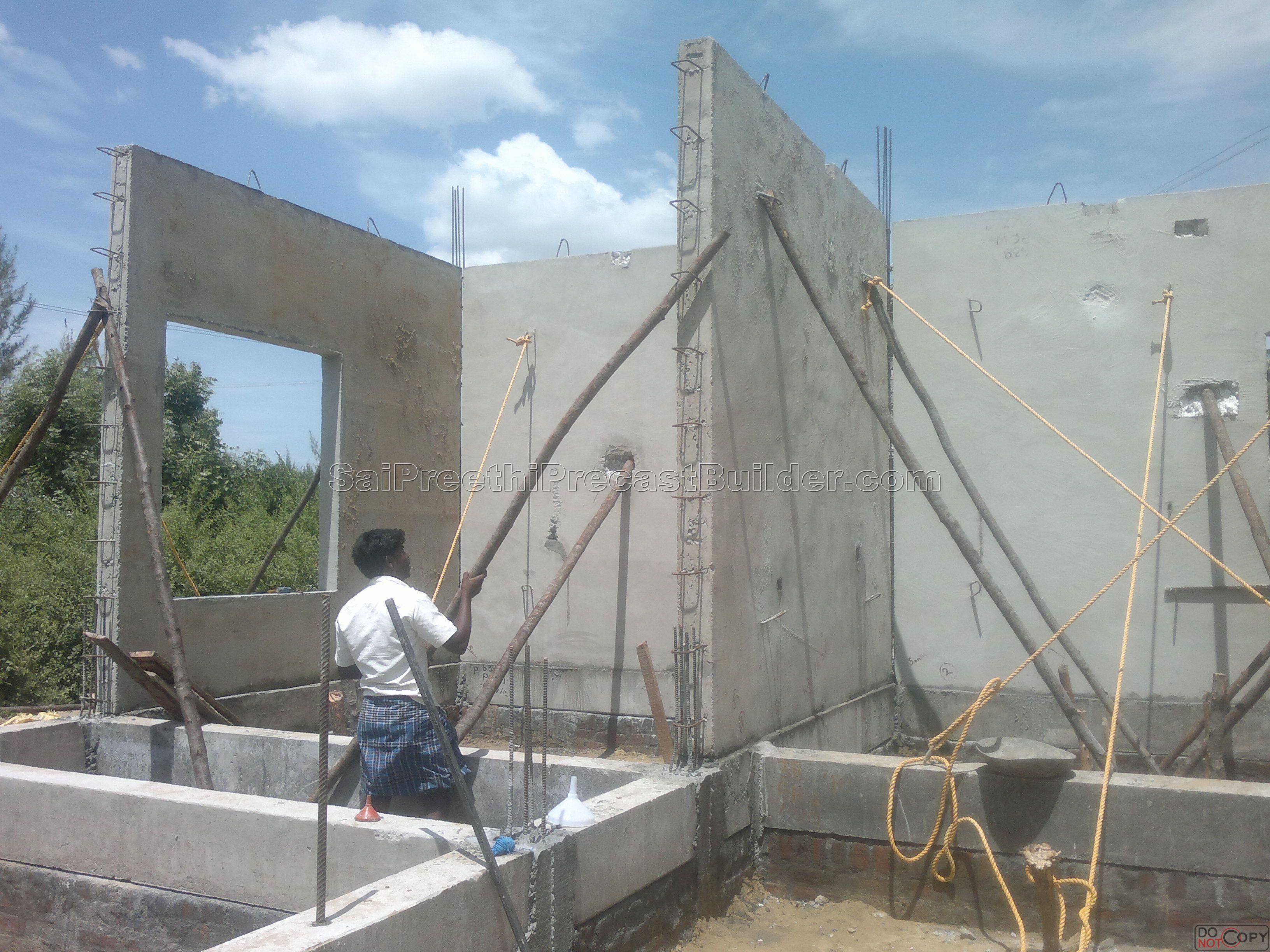 Precast indviual housing 7 sai preethi precast builder for Precast concrete home
