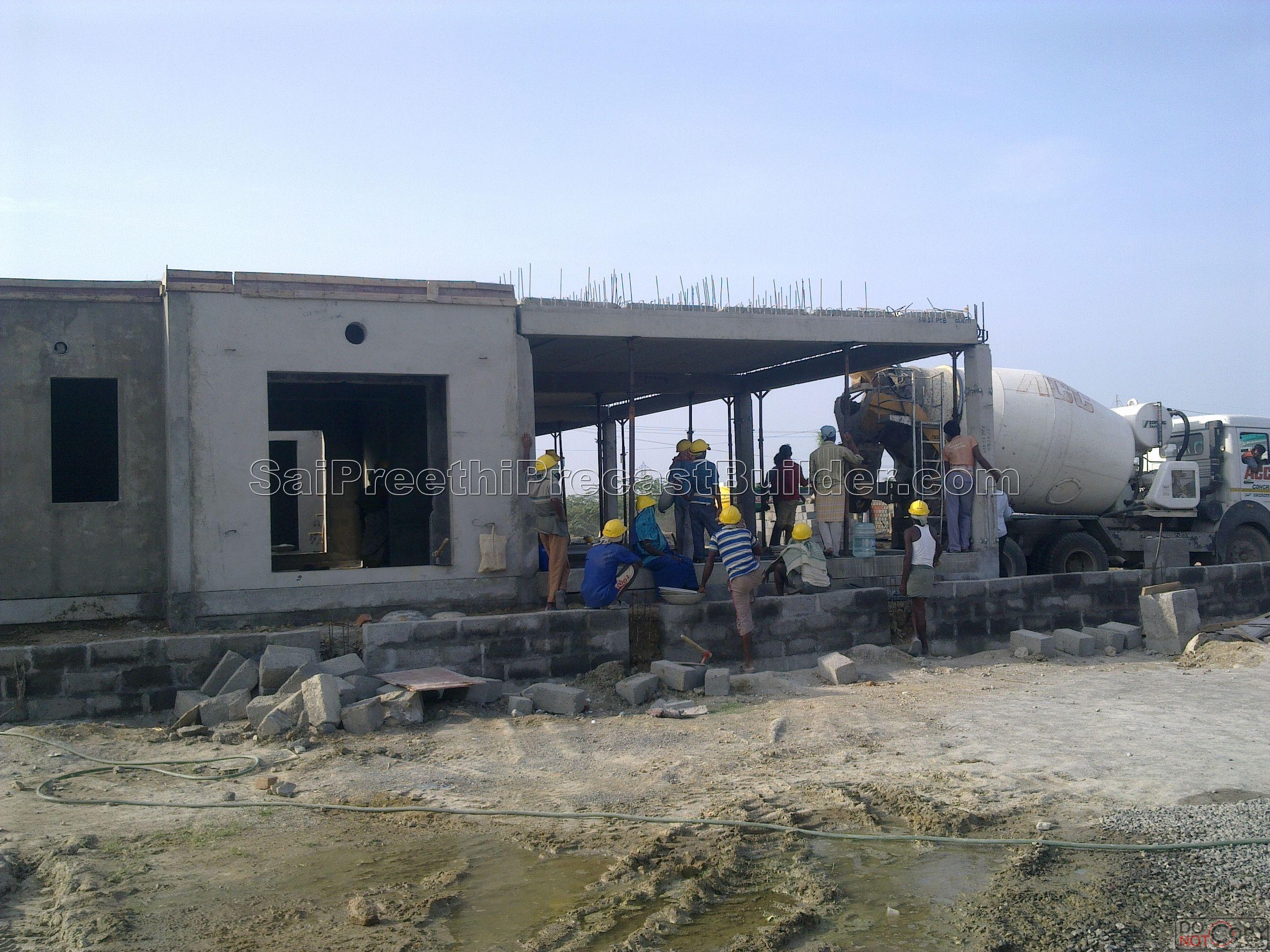 Precast residential house 2 sai preethi precast builder for Precast concrete home