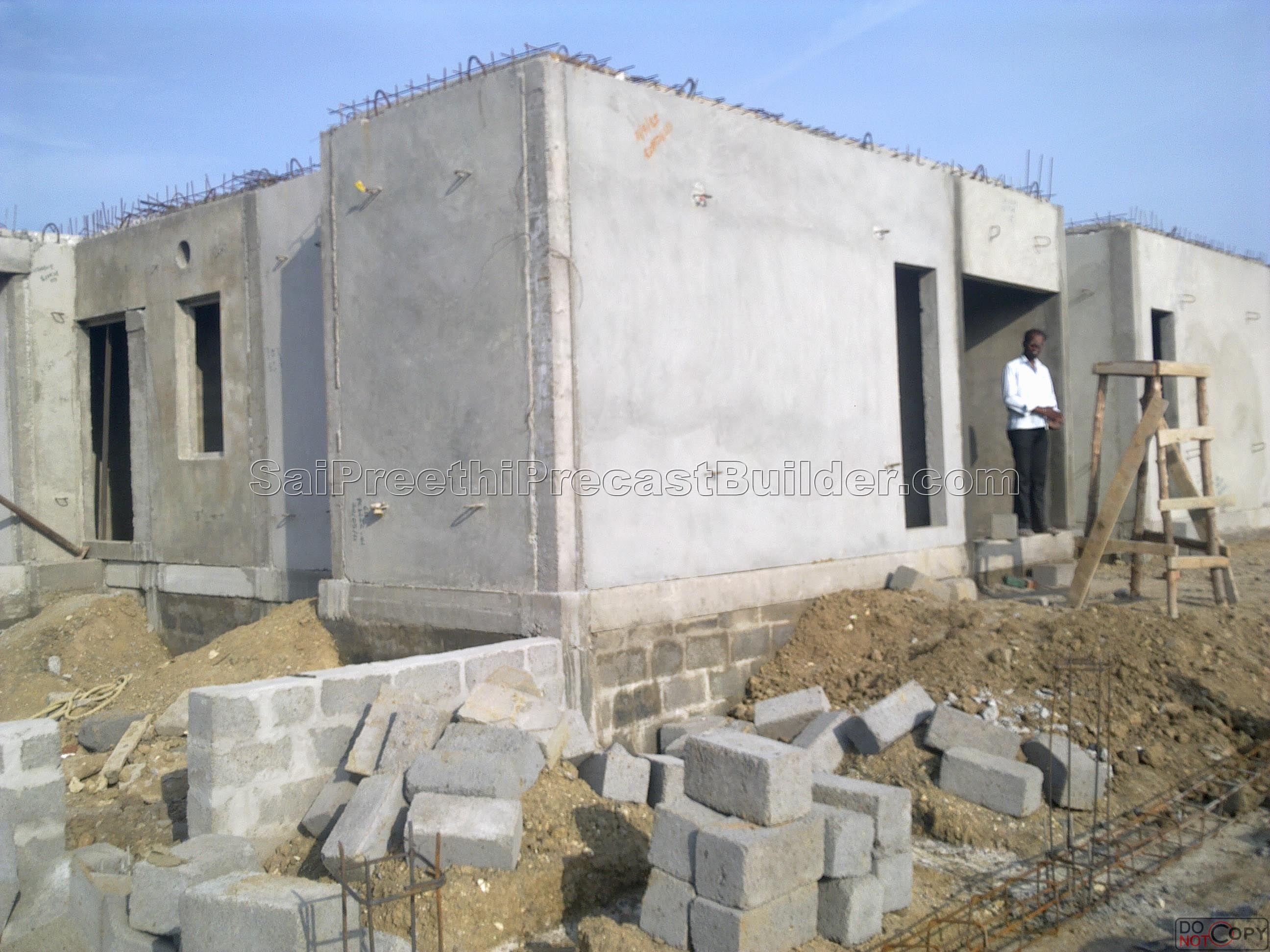 Precast residential house 6 sai preethi precast builder for Precast concrete home