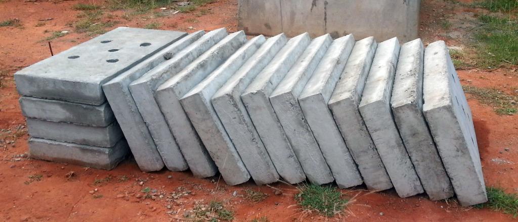 Precast Concrete Slabs : Perforated precast concrete cover slabs for drains sai