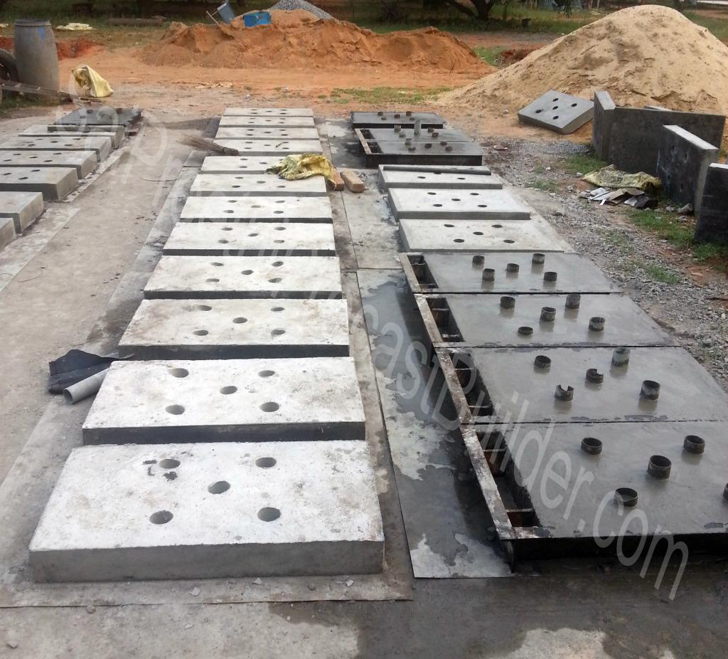 Precast Rcc Slab : Perforated precast concrete cover slabs for drains sai